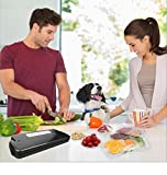 GERYON E2800-c Vakuumiergerät, Compact Automatische Folienschweißgeräte Vakuumierer für Lebensmittel Sparer Sous Vide, Enthalten Vakuumbeutel & Rollen - 2