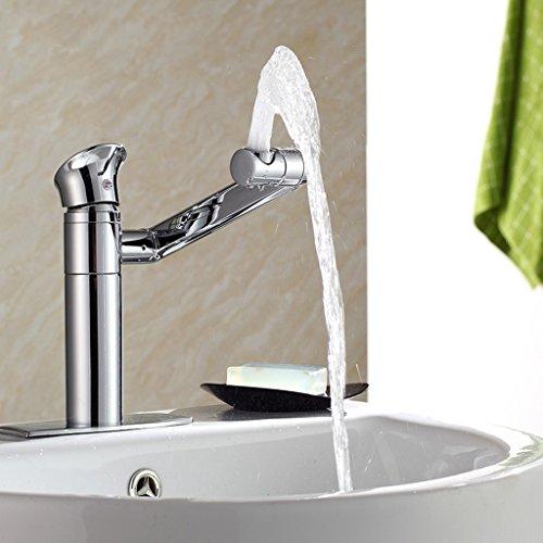 Tous Copper Bathroom Faucet Two - Bassin de Trou Robinet d'eau chaude et froide Rotary Bassin Trois - Bassin Trou Dédié