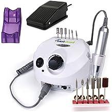 CoastCloud Nagelfrässer Maschine mit Zubehöre für Maniküre und Pediküre, Electric Nail Drill with Accessories, CE Bescheinigung, 220V Weiss