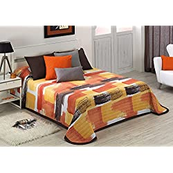 Colcha Bouti Daina (Cama 150 cm, Color Naranja)
