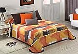 Textilonline - Colcha Bouti Daina (Cama 180 cm, Color Naranja)