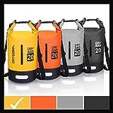 Blackace Dry Bag - 5L 10L 20L 30L Waterproof trockener Beutel / Sack wasserdichte Tasche mit langem justierbarem Bügel für Kayaking Boots-Ausflug Kanu / Fischen / Rafting / Schwimmen / Snowboarding (Gelb und Schwarz, 30L)