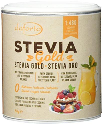 Stevia Plus, Süßstoff (Daforto Stevia Gold, 1er Pack (1 x 50 g))