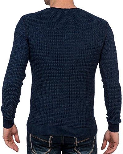 BLZ jeans - Pull bleu fine maille col V Bleu