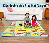 SAANCH DESIRE Waterproof Double Side Baby Play Crawl Floor Mat for Kids Picnic, Play, School, Home (Large Size - 6 Feet X 4 Feet)