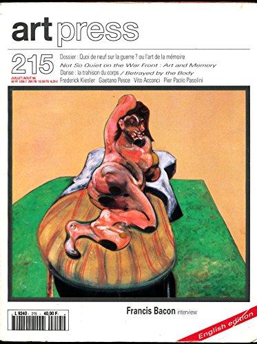 Art press N° 215 , Juillet-Août 1996 (Bilingue) : Entretien avec Francis Bacon, Dossier