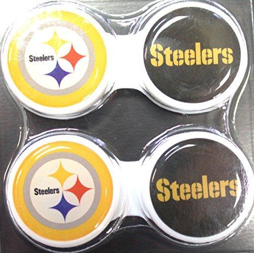 California Accessories Pittsburgh Steelers 2Stück Kontaktlinsenbehälter
