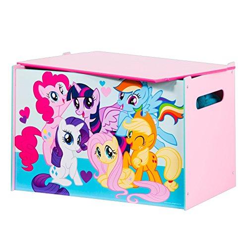 My Little Pony -  Spielzeugkiste für Kinder - Aufbewahrungsbox für das Kinderzimmer (Pie Box Holz)