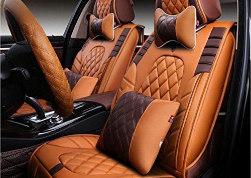 AMYMGLL De haute qualité tout compris version luxe en cuir coussin de siège de la voiture (12set) ensembles de coussin de voiture générale de protection de l'environnement quatre saisons communes de choix 4 couleurs , 4