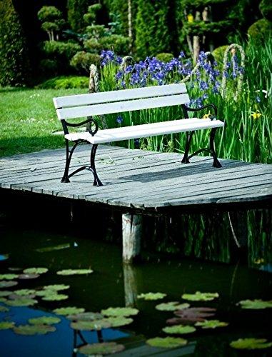 GOLD GARDEN G02022 Gartenbank Toskana aus weissem Fichtenholz 150 cm für 3 Personen - 2