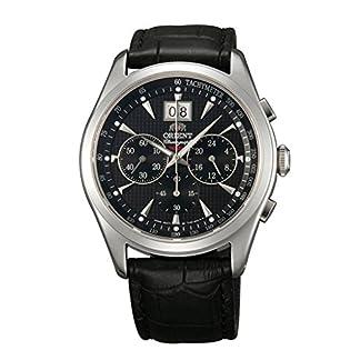 ORIENT Chronomaster TV01004B Reloj de Cuarzo clásico con cronógrafo de Zafiro