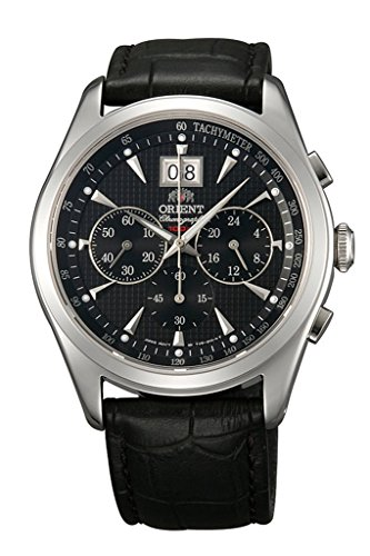 Orient Chronomaster big-date Classic Chronograph Quarz Saphir Kleid Armbanduhr tv01004b