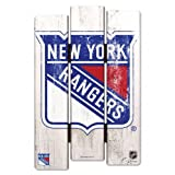 NHL New York Rangers Wood Fence Sign, Black - Best Reviews Guide