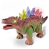 Gaddrt Elektronischer Dinosaurier Leuchten Sie Dinosaurier-elektronischer gehender Roboter, der wechselwirkendes Dino-Spielzeug brüllt 25.5x7.5x12cm