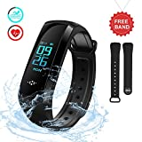 Smart Watch EZfull Fitness Activity Tracker Bluetooth Touch Pedometro GPS monitoraggio sonno e Monitor di frequenza cardiaca Impermeabile IP67 Smartband Orologio con Notifiche Chiamate/SMS,foto, tempo