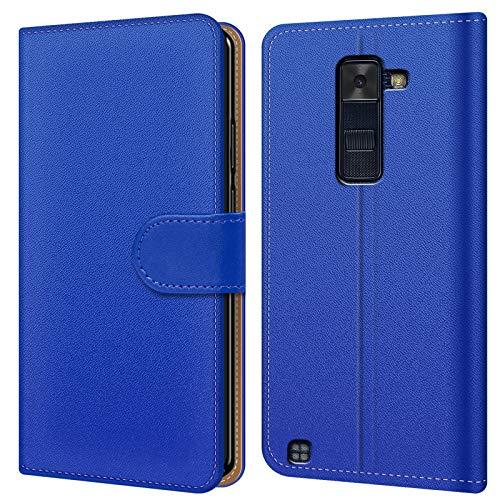 Conie BW16112 Basic Wallet Kompatibel mit LG G4 C, Booklet PU Leder Hülle Tasche mit Kartenfächer & Aufstellfunktion für G4 C Case Blau