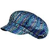 Markenlos Damen - Ballonmütze Schirmmütze Regenmütze Damenmütze - wasserabweisend - 67456 (58 cm, Schwarz bunt Gemustert)