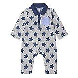 ESPRIT KIDS Unisex Baby Strampler RK55060, Blau (Midnight Blue 485), 62