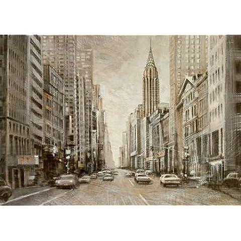 Il Chrysler Building, Matthew Daniels in stampa giclée, su tela in carta e decorazioni disponibili, Tela, SMALL (35.5 x 25.5 Inches