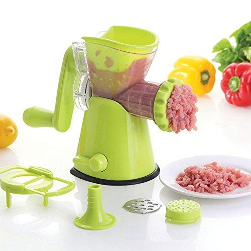 KitchenNinja Multifunktionale Fleischwolf mit Gebäckvorsatz Manuelle Drehwolf Kunststoff