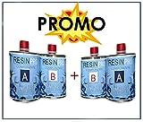 2Paquets de résine époxy Transparent Gr 800bi-matière-Total 1,6kg