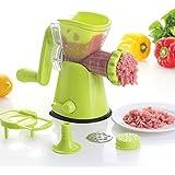 KitchenNinja Multifuncional Máquina de Picar Carne Picadora de Carne y Fideos y Salchichas Maker con Base de Succión (Verde)