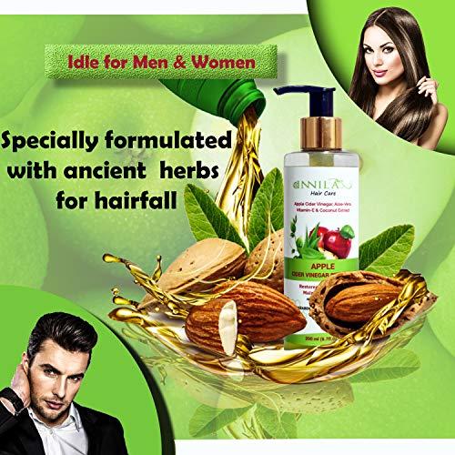 Innila Himalayan Apple Cider Vinegar Shampoo for Hair with Aloe-Vera,Vitamin E , Almond Oil & Coconut Extract -200 ML (No Silicon, Sulphate & Paraben)