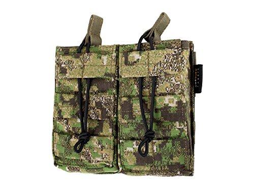 BE-X Offene Magazintasche CQB, für MOLLE für zwei M4/M16 Magazine - PenCott Greenzone