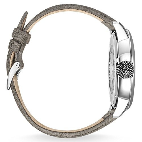 Thomas Sabo Herren-Armbanduhr Rebel with Karma grau silber Analog Quarz
