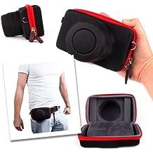 DURAGADGET Custodia Rigida Per Leica Q (Typ 116) - Interno Morbido - Fascia Per Cintura - Alta Qualità