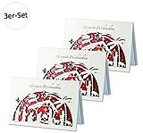 3er-Set Weihnachtskarten mit Scherenschnitt-Motiv »Heilige Nacht«