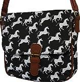 51Lc2u%2BFntL. SL160  UK BEST BUY #1Ladies Horse / Pony Design Cross Body / Shoulder Bag Handbag (BLACK)