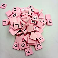 Hink 100 Wooden Scrabble Tiles Black Letters Numbers for Crafts Wood Alphabets Toys and Hobbies Big Sales