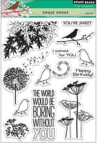 Penny Penny Penny nero Clear Stamps 5 X6.5  Sheet-Tweet Tweet | Commercio All'ingrosso  | Un equilibrio tra robustezza e durezza  | On Line  89731b