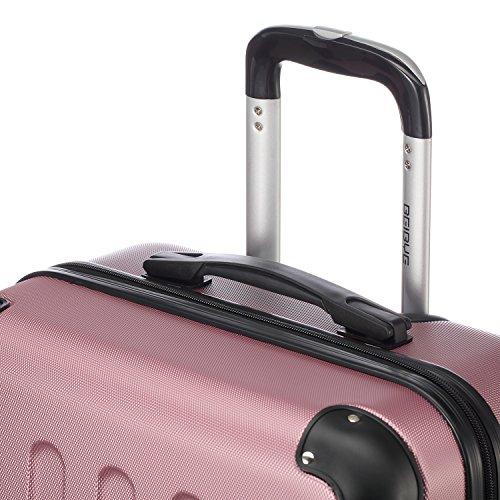 2045 Hartschale Koffer Trolley Reisekoffer einzelgröße XL-L-M in 10 Farben (M, Pink) - 5