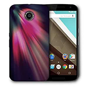 Snoogg Abstract Pink Rays Printed Protective Phone Back Case Cover For LG Google Nexus 6