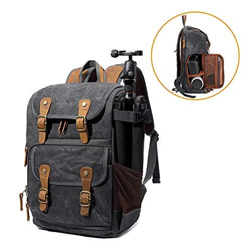 G-raphy Kamera-Rucksack, wasserdicht, Vintage-Stil, für DSLR-Kameras, Laptops, Objektive und Stativ, schwarz (Objektiv-stil-kamera)
