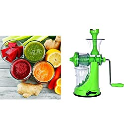 Biaba Collection Real Apex Fruit & Vegetable Clear Barrel Juicer Multipurpose Hand Juicer color Multicolor pack of 1 (Color May Vary)