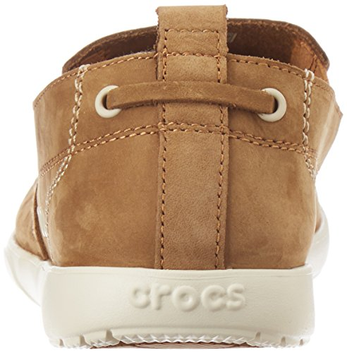 Crocs - Harborline Nubuck Mocassins Homme Hazelnut/Stucco