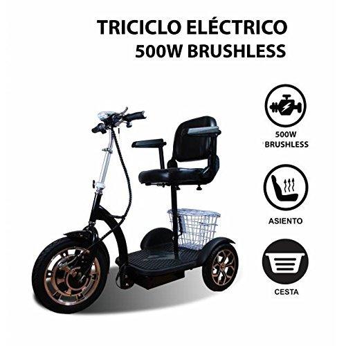 Tricycle électrique | IDÉAL POUR PERSONNES HANDICAPÉES, À MOBILITÉ RÉDUITE | LIVRAISON IMMÉDIATE | SCOOTER ÉLECTRIQUE 3 ROUES