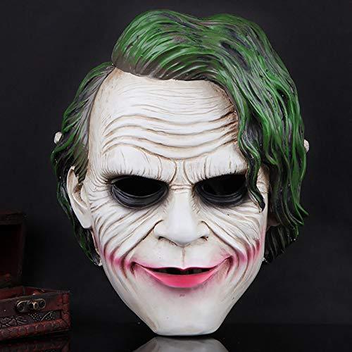 Knight Collectors Kostüm Dark - Skeby Halloween Masken,Halloween Harzmaske,Halloween Film Thema Harz Dark Knight Maske Clown Maske,Horror Maske