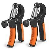 Set per rafforzare la presa con intervallo di resistenza regolabile 10-40 kg, lo strumento migliore per esercitare la presa di atleti e musicisti, confezione da 2 rafforzatori