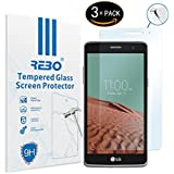 LG L BELLO 2 Protector cristal templado - RE3O® 3 x Protector de pantalla cristal templado vidrio templado para LG L BELLO 2 5,0'' pulgadas, Fácil de instalar y sin burbujas de aire, Borde redondo elegante 2,5D, Dureza 9H, Alta transparencia