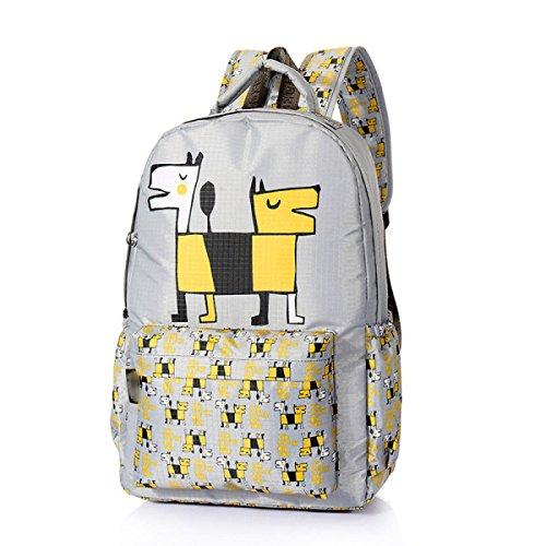 FZHLY Sacchetto Di Spalla Dei Nuovi Studenti Tre Set Di Sacchetto Di Viaggio Di Svago Di Modo,Yellow Gray