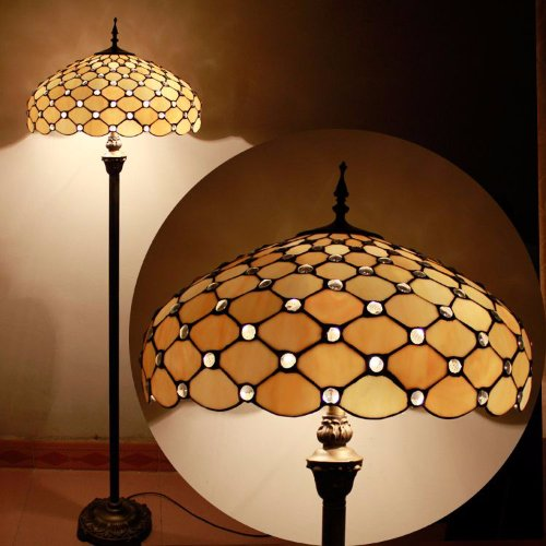Top Jewel 20inch Tiffany Floor Lamp Discount
