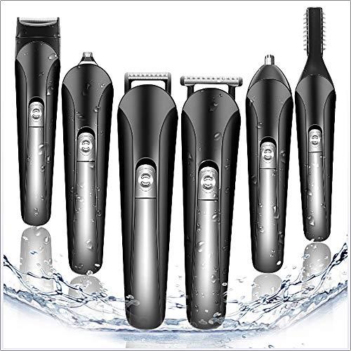 CHRISTI Bartschneider Haarschneider Precision 11 Trimmer in 1 für Koteletten Haar Nasen-Ohr-Körper-Multi Grooming Kit Elektrische Rasierapparate wasserdicht für MenCordless USB aufladbare All-in-One