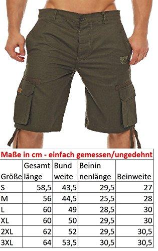 Gennadi Hoppe Herren Cargo Shorts BERMUDA Cargoshorts Freizeitshorts Arbeitsshorts kurze Hose Schwarz