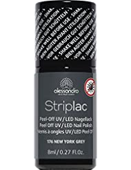 alessandro Striplac 76 New York Gray, 1er Pack (1 x 8 ml)