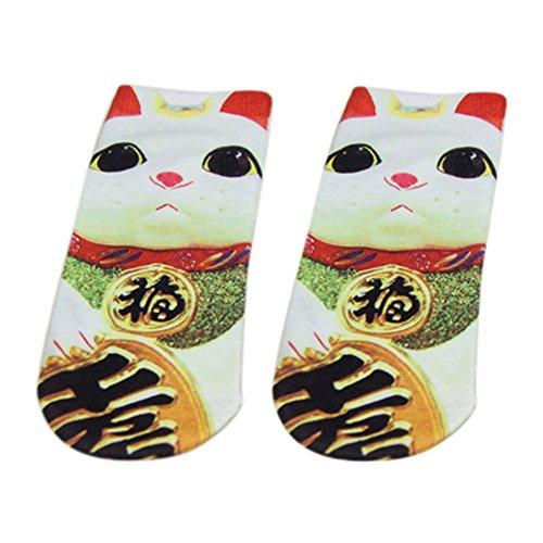 Novelty-3D-Printed-Unisex-Socks-Mens-Womens-Cute-Low-Cut-Ankle-Socks