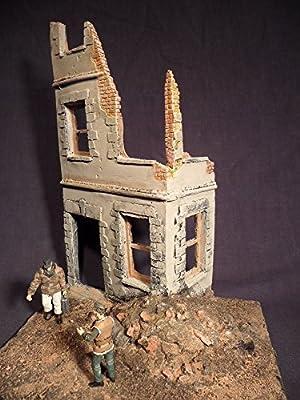 Maßstab 1/35WW2Caen Ruined House von FoG models